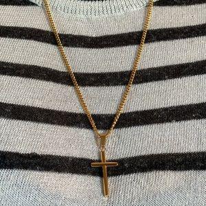 Jewelry - Gold Cross Pendant Necklace